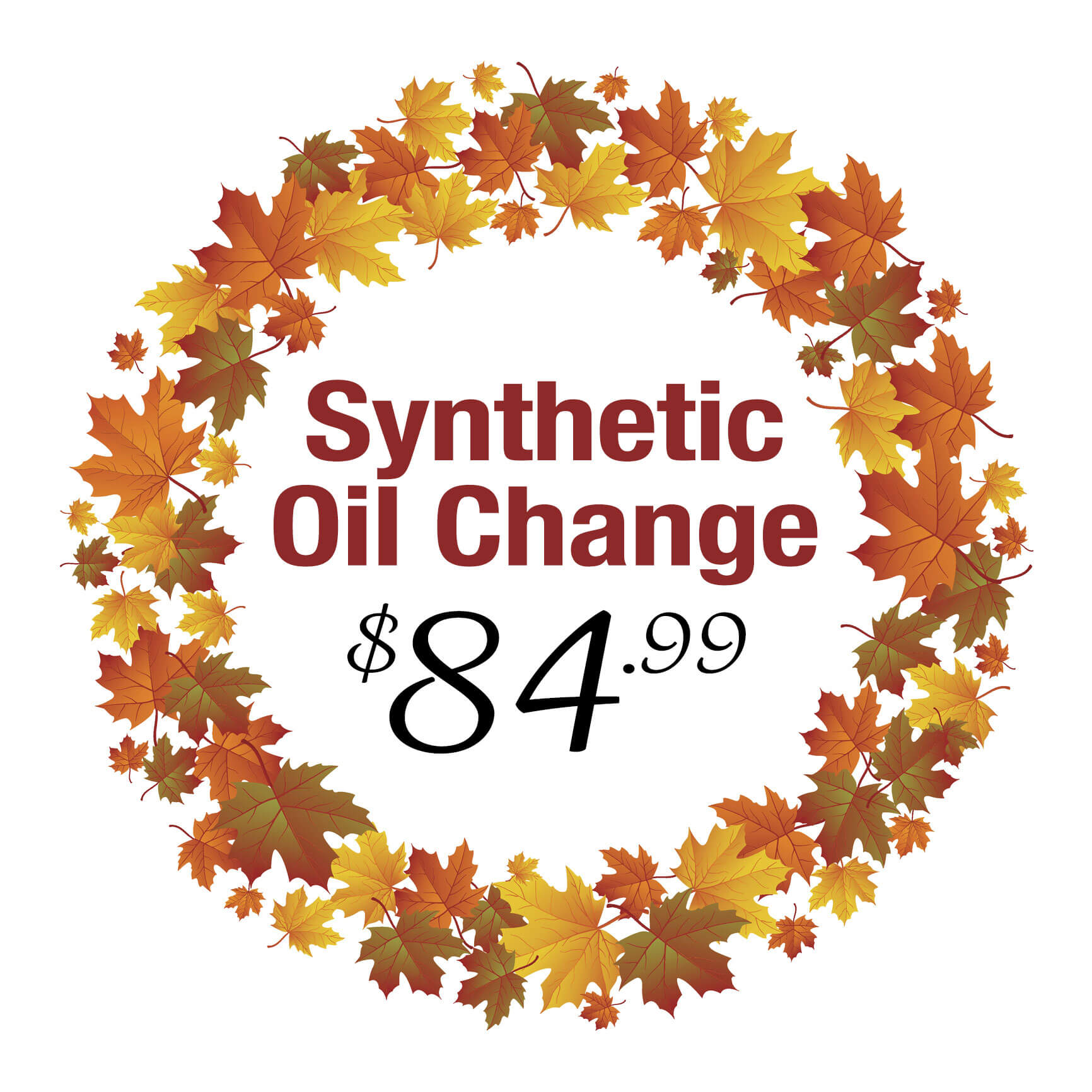Fall Oil Change Deal