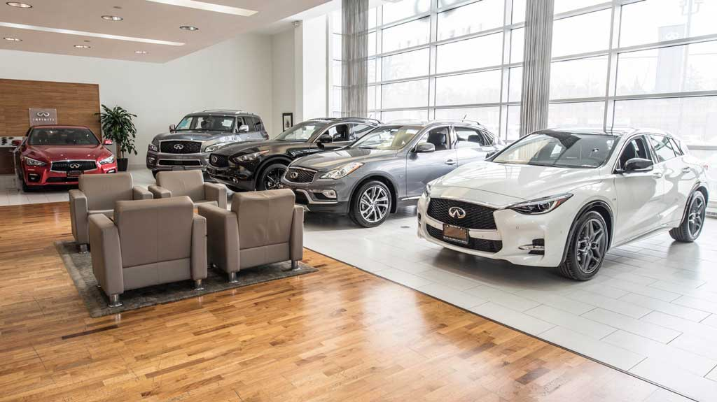 Learn more about Markham Infiniti interior showroom