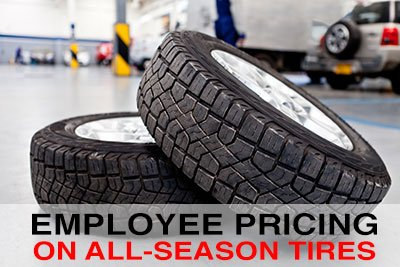 Get employee pricing on all-season tires!