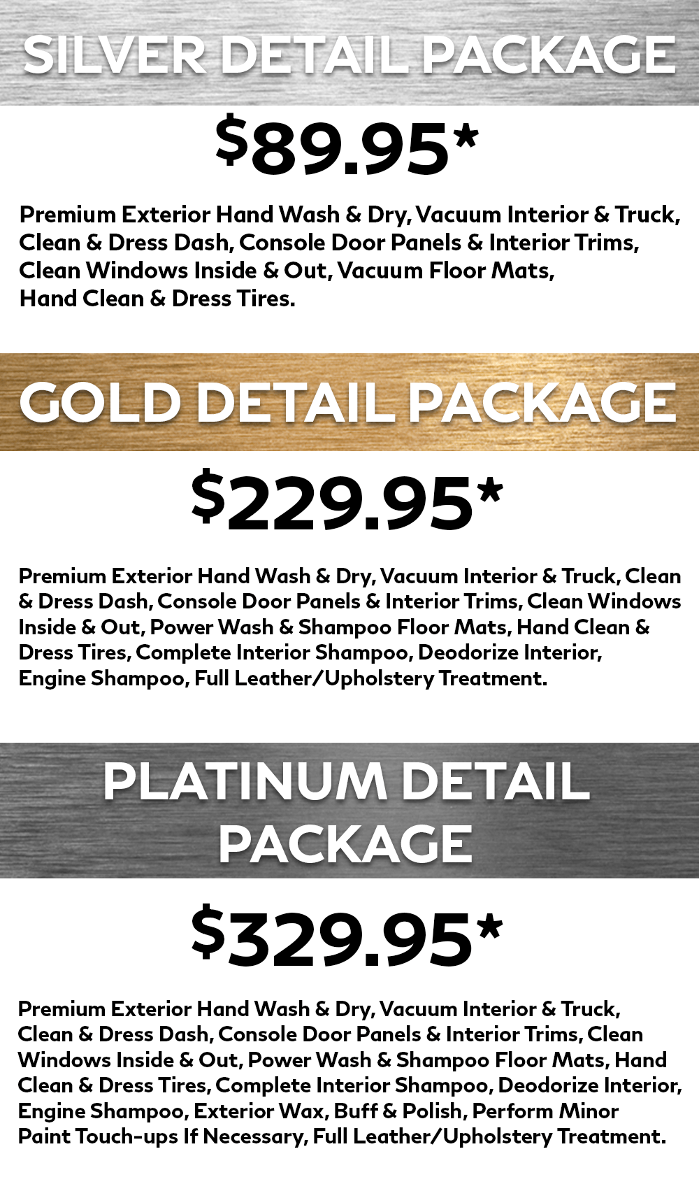 Detailing Packages at Markham Infiniti