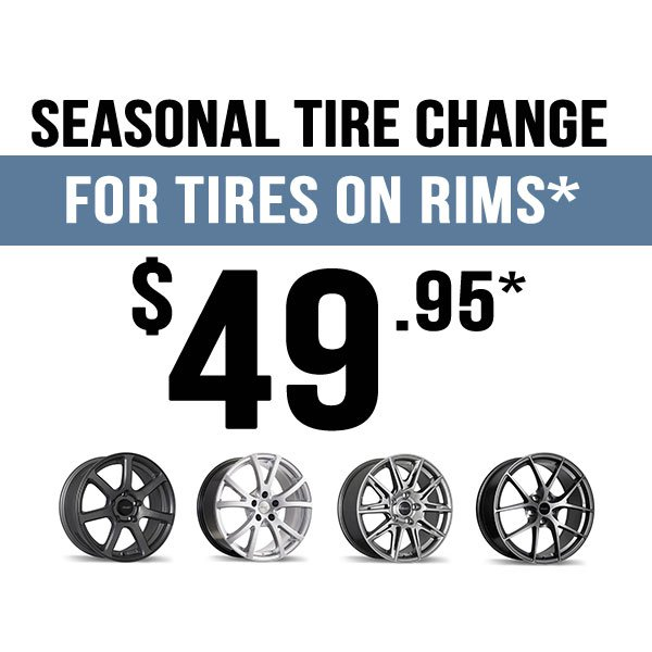 Seasonal Tire Change – Tires On Rims