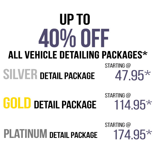Detailing Packages – 40% OFF!