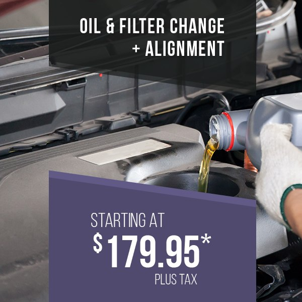 Oil & Filter Change + Alignment Promotion