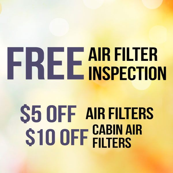 FREE Air Filter Inspection