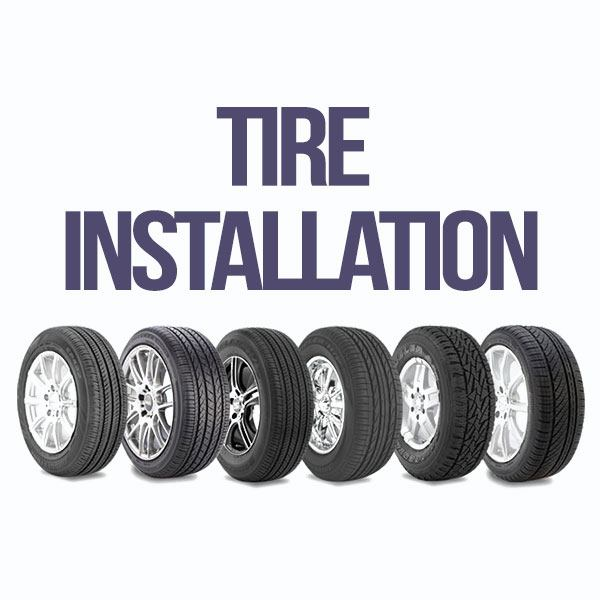 Tire Installation Special
