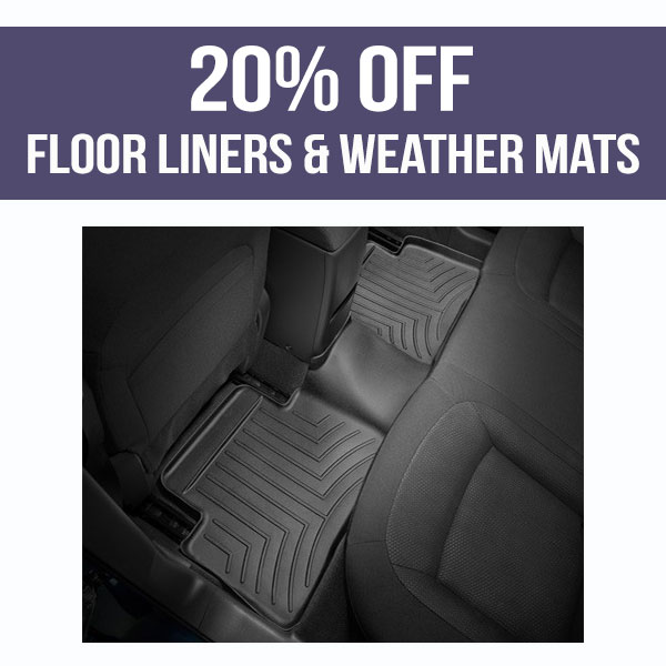 20% OFF All Floor Liners & All Weather Mats