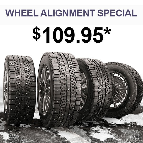 4-Wheel Alignment Special –Save $20