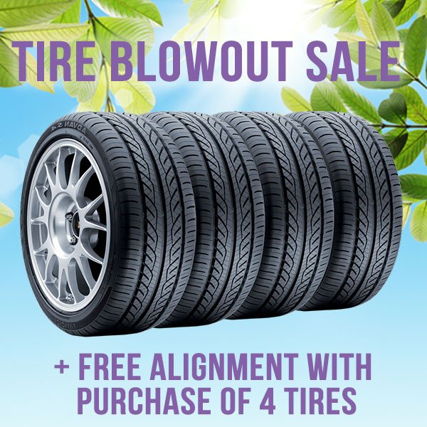 Tire Blowout Sale!