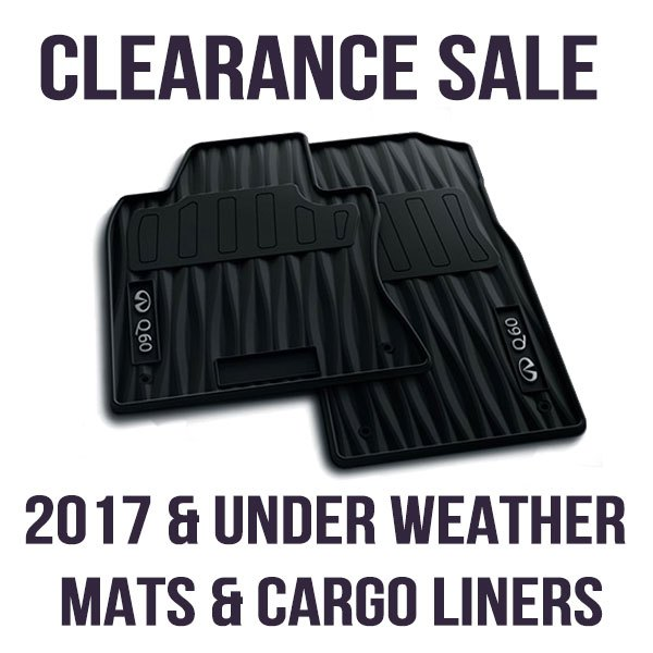 Clearance on ALL 2017 & UNDER – All Weather Mats & Cargo Liners
