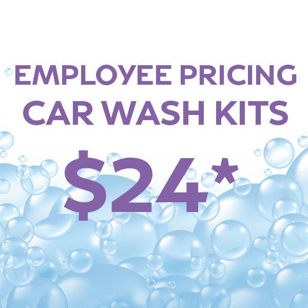 Employee Pricing – Car Wash Kits