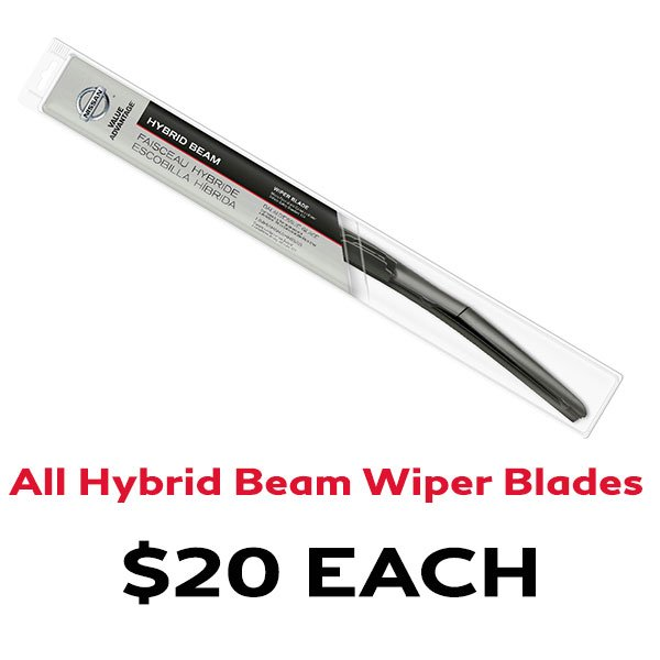 ALL Hybrid Beam Wiper Blades for $20 EACH