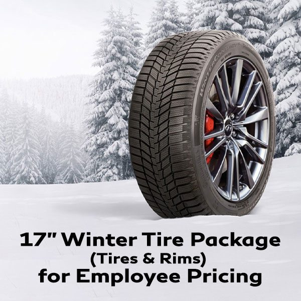17″ IN STOCK Winter Tire Package (Tires & Rims) for Employee Pricing
